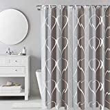 i@Home Cortina de ducha, antimoho, impermeable, lavable, antibacteriana, de poliéster, cortina de baño con 12 anillas para cortinas de ducha