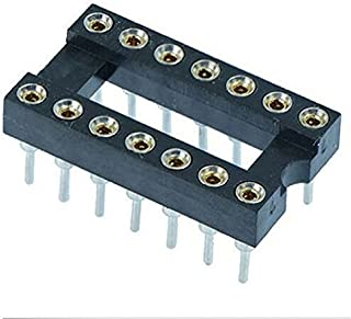 Gimax 14 Pin DIP/DIL Turned Pin IC Socket Connector 0.3 inch Pitch 25pcs