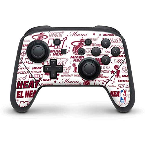 Skinit Decal Gaming Skin Compatible with Nintendo Switch Pro Controller - Officially Licensed NBA Miami Heat Historic Blast Design