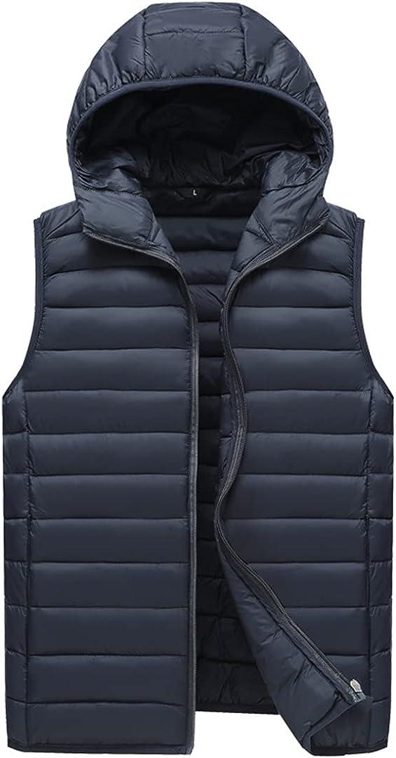Men Duck Down Vest Coat Ultralight Sleeveless Vest Jacket Stand Collar Windproof Duck Down Waistcoat