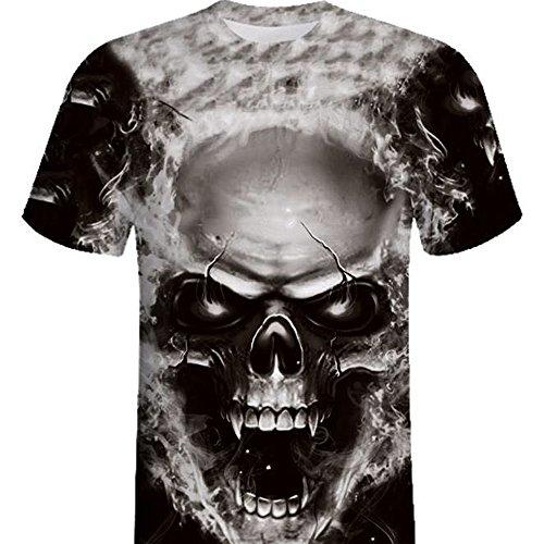 rikay mens 3d skull print