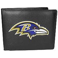 NFL Siskiyou Sports Mens Baltimore Ravens Bi-fold Wallet Large Logo One Size Black
