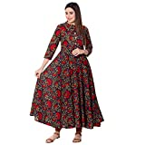 GULMOHAR JAIPUR Women's Cotton Anarkali Kurta (s_MK32_M_Blue_XX-Large)