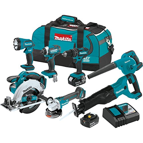 professional Makita XT706 3.0Ah 18V LXT Rechargeable Lithium Ion Combo Kit (7 pcs)