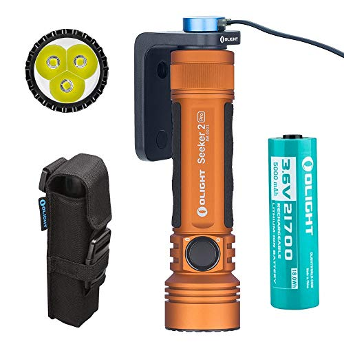 Olight Seeker 2 PRO 3200 Lumens LED Flashlight Magnetic USB Rechargeable 21700...