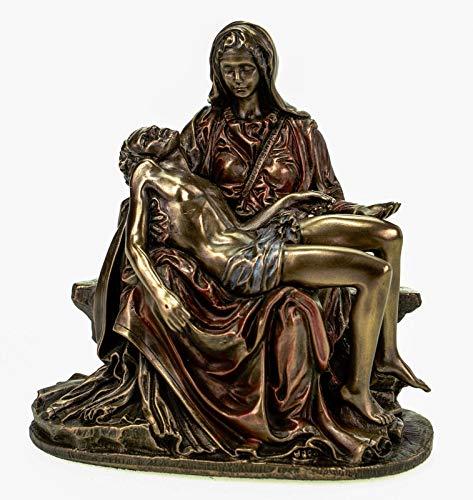 Veronese 708-5547 Figur Pieta Maria mit Jesus nach Michelangelo bronziert Skulptur 13 cm