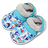 FIRES Baby Slippers Toddlers Boys Girls House Slippers Soft Plush Warm Home Shoes for Kids Two Wear Slippers Sneakers Non-Slip Lightweight Indoor Outdoor rocket 8 Toddler
