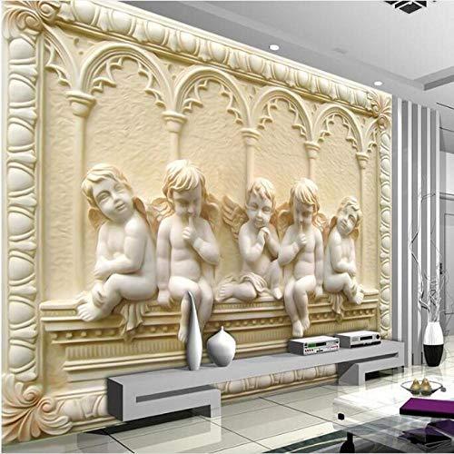 Tapete Benutzerdefinierte Große Wandbild Eros Cupid TV Wandbild TV Hintergrund Wand Vliestapete Schlafzimmer 400 Cm * 280 Cm Seidentuch Anpassbare Huzi
