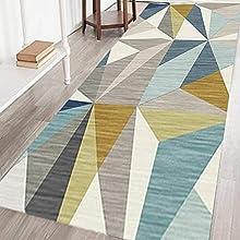 AEREY Alfombras de Pasillo 80x500cm, Alfombras por Metros Aislante Diseño Lavable Alfombra de Pasillo de Textil para Pasillo Cocina Sala de Estar Dormitorio - R-4