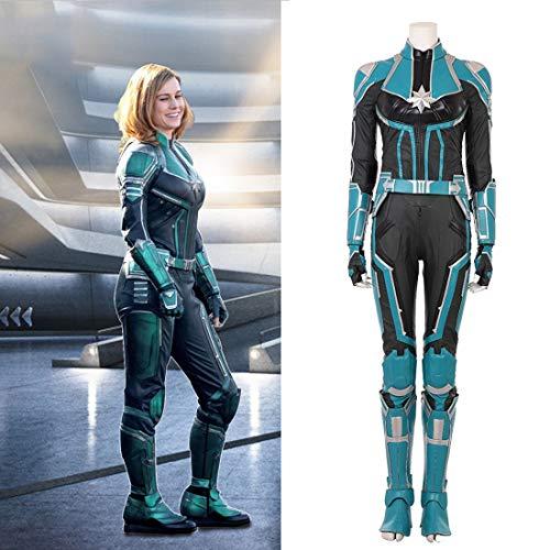 Rubyonly Captain Marvel Cosplay Frauen Carol Danvers Kostüm Ms. Marvel Cosplay für Frauen Full Set nach Maß,S