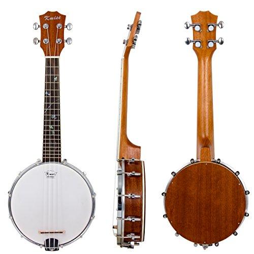 Kmise Banjolele Banjo Ukulele Ukelele Uke Concert 4 String 23 Inch Sapele Wood
