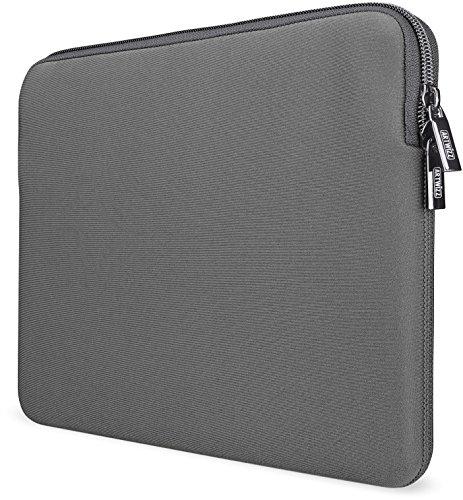 Artwizz Neoprene Sleeve Tasche designed für [MacBook Air 13 (2018-19), MacBook Pro 13 (2016-19)] - Laptop Schutzhülle mit Reißverschluss, Webpelz, extra Schutzrand - Titan - 13 Zoll (Neue Version)