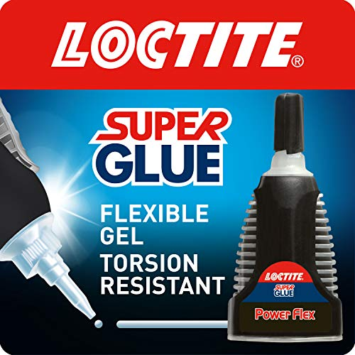 Loctite Super Glue Power Flex Control, Flexible Super Glue Gel, Superglue with Non-Drip Formula for Vertical Applications, Clear Glue with Precise Nozzle, 1x3g
