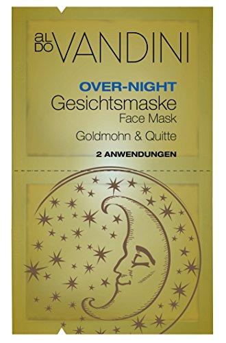 aldo VANDINI Over-Night Gesichtsmaske Goldmohn & Quitte, 4er Pack (4 x 15 ml)