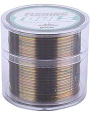 Línea de Pesca de Nylon del 500M, línea Colorida Altamente Resistente a la abrasión de la Pesca del Carbono para la Pesca en mar