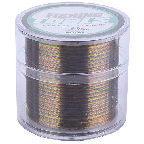 Línea de Pesca de Nylon del 500M, línea Colorida Altamente Resistente a...
