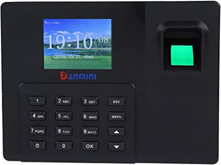 "2.8""TFT LCD Fingerprint Password Machine Presente Impiegato Registratore Time Clock Machine 1000 Utente per Office/Home(EU) - Confronta prezzi"