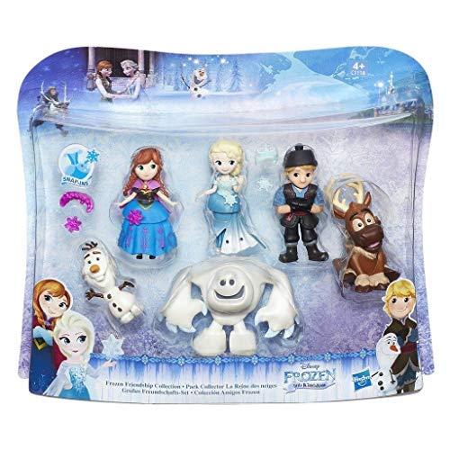 Hasbro Die Eiskönigin Little Kingdom großes Freundschafts-Set mit sechs beliebtesten Charakteren: Anna, Elsa, Kristoff, Olaf, Sven und Marshmallow, ca 8 cm. große Figuren