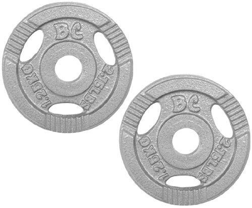 Bad Company Hantelscheiben Guss-Gripper 30/31mm - 2,5Kg (2x1,25) Hantelscheiben aus Guss mit Hammerschlag Lackierung