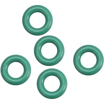 Caoutchouc Fluoré Joints Toriques 1.5mm Largeur étanchéité Vert 5Pcs