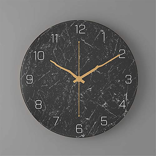 Preisvergleich Produktbild Subink wanduhr,  wanduhr Vintage,  wanduhr digital,  marmor Uhr Nordic Wohnzimmer Mode kreative wanduhr 30cm Dekoration Schlafzimmer Retro Uhr