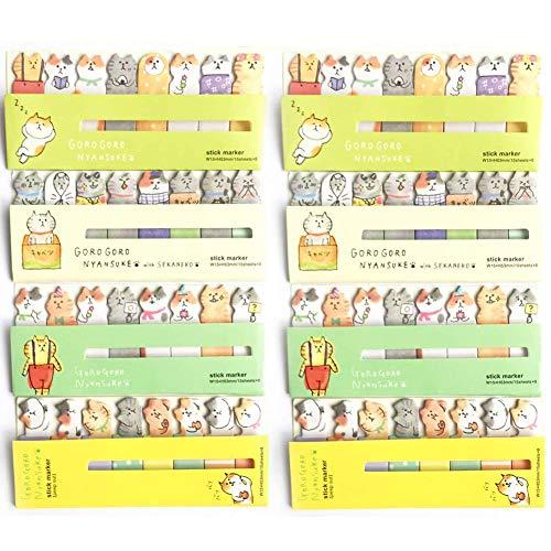 BESTZY Niedliche Haftnotizen 960 Blätter Sticky Notes Memo Pad Haftnotizen Seite Flaggen selbstklebend Lesezeichen Marker Pad Cartoon Büro Schule Supplies