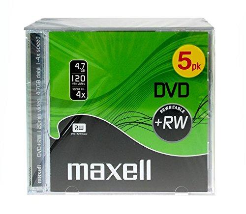 Maxell 275526 DVD+RW Rohlinge (4X Speed, 4,7GB, 5er Jewelcase)