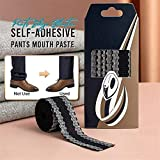 1.2M/Pack Pants Edge Shorten Self-Adhesive Pants Mouth Paste,Iron-on Hemming Tape, Sewing Adhesive Tape for Fabric, Foot Presser Pants Apparel Sewing Fabric, for Suit Pants Jeans Trousers