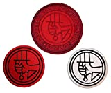 Hellboy Bureau of Paranormal (Set of 3) Embroidered Logo Patches