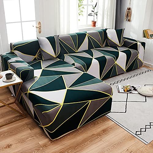 WXQY Chaise Longue Cubierta del sofá de la Sala de Estar Cubierta elástica para el Cabello, Todo Incluido sofá telescópico en Forma de L a Prueba de Polvo A11 4 plazas