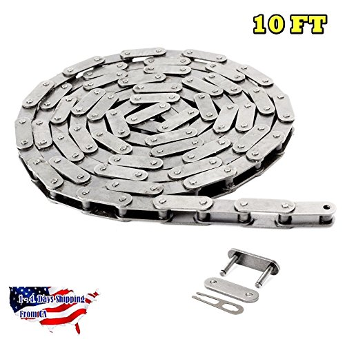 C2060H-SS Stainless Steel Conveyor Roller Chain 10 Feet Heavy Duty with 1 Link