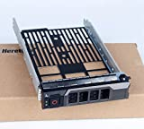 Heretom 3,5 Zoll KG1CH Festplattenrahmen SAS SATA Laufwerk Caddy Festplatten Tray für Dell...