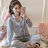 Pyjamas de Soie à Manches Courtes Printemps Pyjamas d'été pour Femmes Pyjamas de...