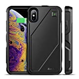 EasyAcc iPhone Xs/X Battery Charger Case Qi Wireless Charging Case, 5000mAh Rechargeable Charging Shell Extended Full Protection Charger Case for iPhone XS/X/10