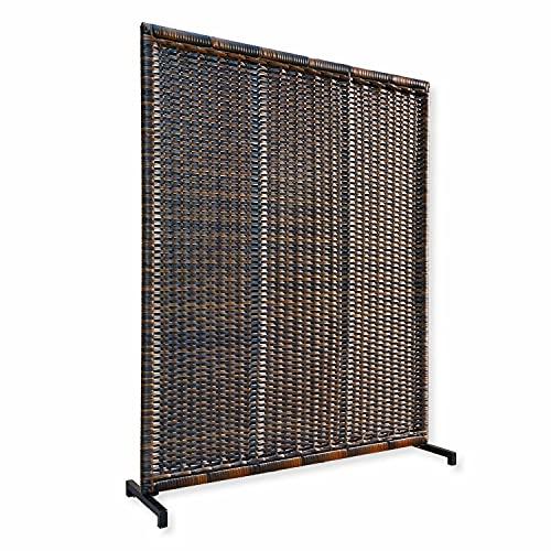Loberon Pannello divisorio Tremblay, Alluminio, polirattan, L/A/P ca. 150/185/40 cm, Marrone