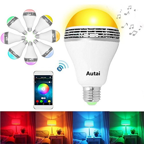 Autai LED Light Bulb with Smart Bluetooth Speaker and APP...