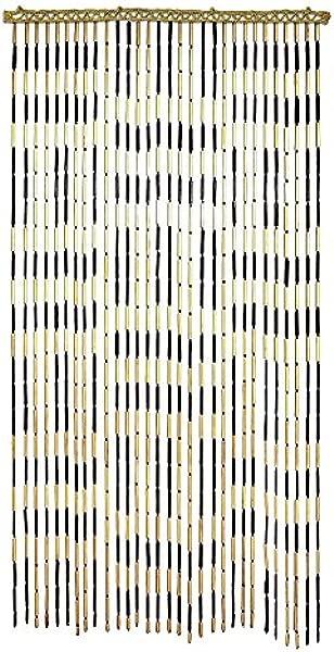 Criss Cross Bamboo Beaded Door Curtain 3 X6