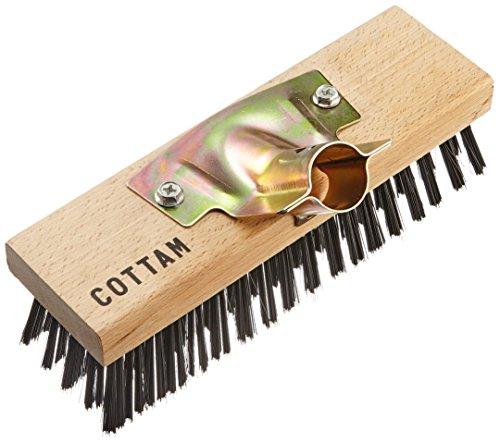 Cepillo de escoba de unos 23 cm, con púas de acero para ada