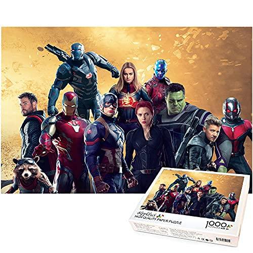 Capitán América y Iron Man 1000 piezas rompecabezas The Avengers Family Puzzle Game 1000 piezas Puzzle Juego para niños Juguetes Regalo Marvel hero 75x50cm