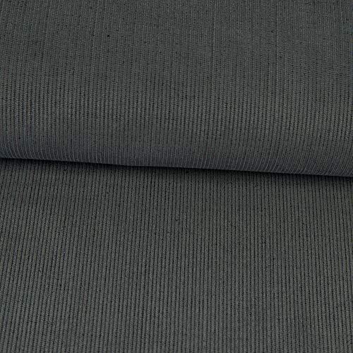 Feincord uni grau Babycord Kinderstoffe Modestoffe einfarbig - Preis gilt für 0,5 Meter
