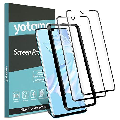 yotame Verre Trempé pour Huawei P30 Pro, 2 Pièces [3D Incurvé Couverture Complète] Protection écran Huawei P30 Pro Anti-Rayures sans Bulles Haute Définition de Protecteur D'écran pour Huawei P30 Pro