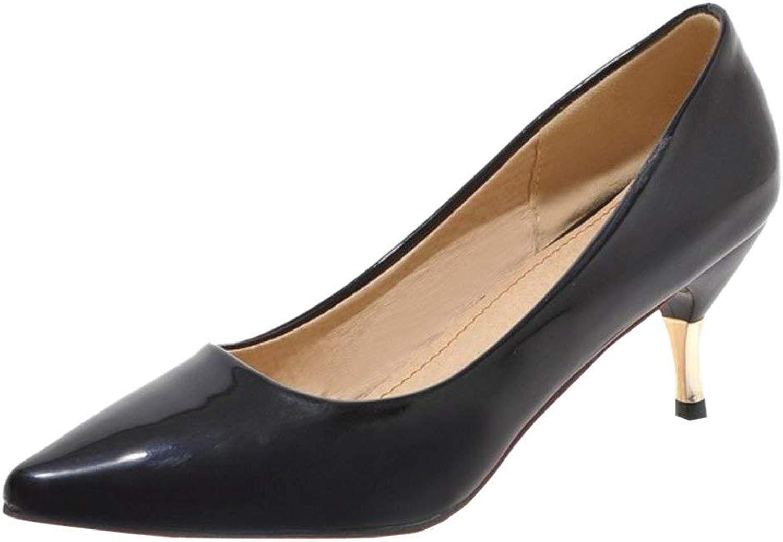 Unm Women Fashion Thin Heel Pumps Pointy