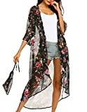 Ekouaer Women Floral Kimono Cardigan Chiffon Casual...