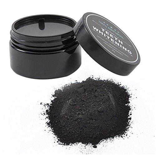 Teeth Whitening Powder, carbón activo natural, blanqueamiento dental en polvo, 2,01 oz