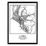 Nacnic Drucken Stadtplan Lima skandinavischen Stil in