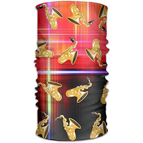 KDU Fashion Sweatband, Golden Saxofoon patroon Bandana, Duurzame zweetband voor sportief hardlopen