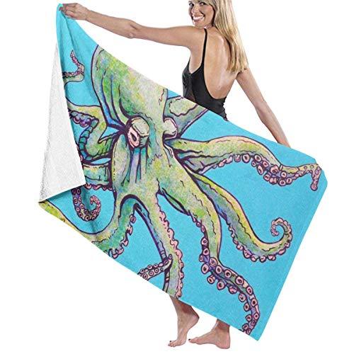 Leo-shop Octopus Sea Blue StrandtuchBadetuch HandtuchSunproof BeachQuick Dry Towels Reisetuch