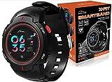 Media-Tech MT860KG X-FIT - Braccialetto fitness con cardiofrequenzimetro, impermeabile, IP68, con schermo a colori, per fitness, fitness, smartwatch e smartwatch per bambini e donne, rot