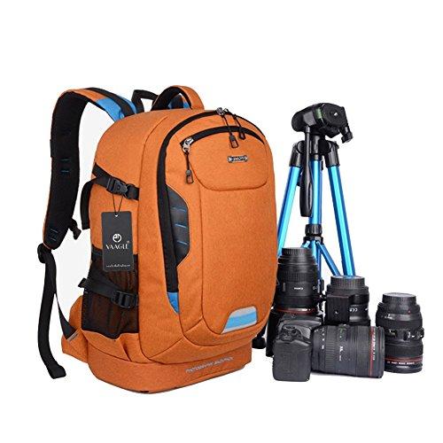 YAAGLE Outdoor SLR Kameratasche Professional Rucksack abnehmbar Gepäck Schultertasche Reisetasche Canon 700 D Stativtasche-orange