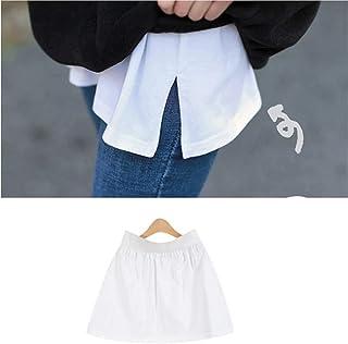 1/2/3pcs Adjustable Layering Fake Top Lower Sweep Set Skirt, Half-Length Splitting a Version Versatile Fake Hem for Sweate...